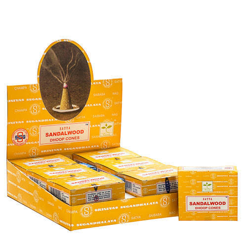 SATYA SANDALWOOD INCENSE CONES