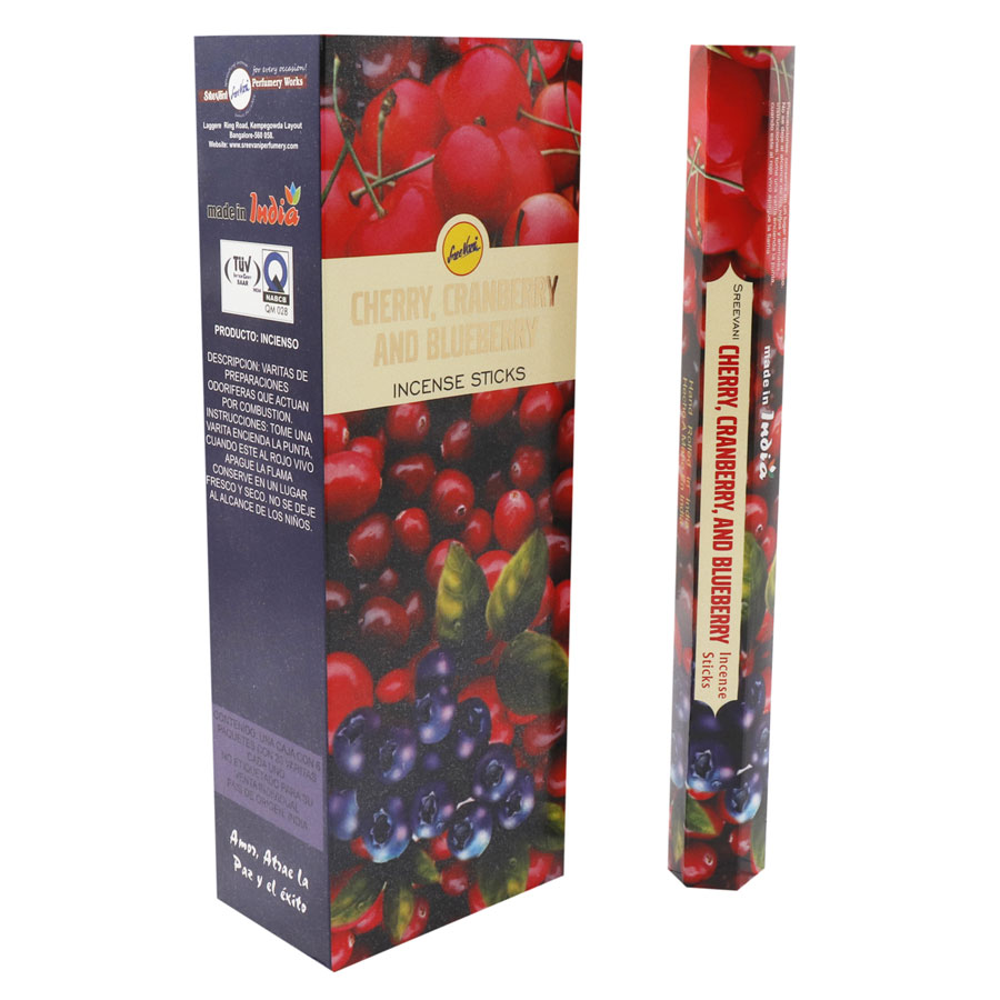 CHERRY CRANBERRY AND BLUEBERRY / CEREZA ARANDANO Y MORA AZUL