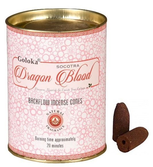 Goloka Dragon Blood Backflow Incense Cone