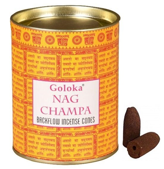 Goloka Nag Champa Backflow Incense Cone