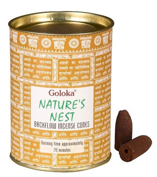 Goloka Nature's Nest Backflow Incense Cone