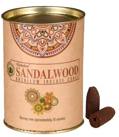 Goloka Sandalwood Backflow Incense Cone