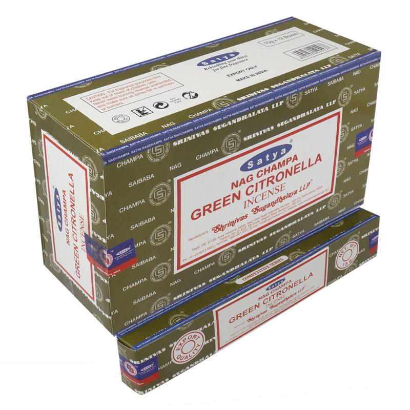SATYA NAG CHAMPA GREEN CITRONELLA 15 GM