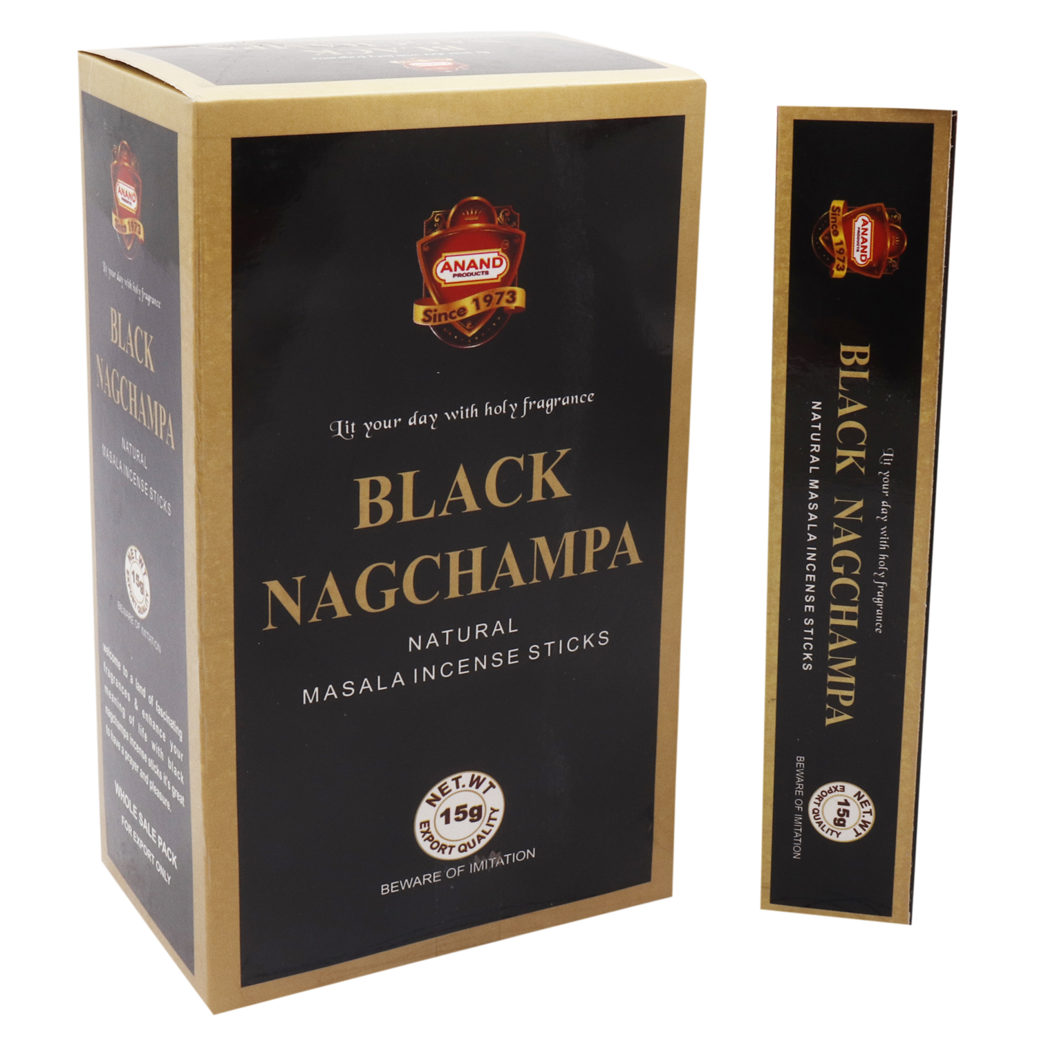 ANAND BLACK NAG CHAMPA 15 GM